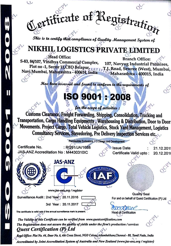 Nikhil Logistics Pvt Ltd